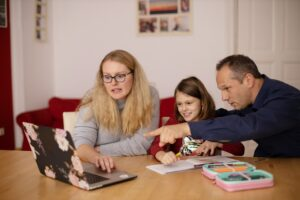 carers helping with homework